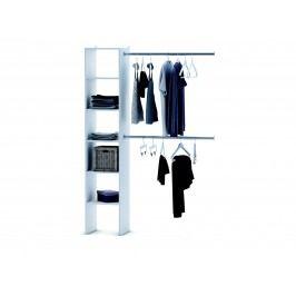 DEMEYERE EKONOMIQUE, regál + 2 šatní tyče 100 cm, bílá