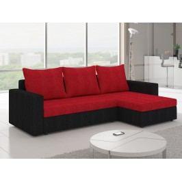 ELTAP Rohová sedačka LIVIO 1, červená/černá