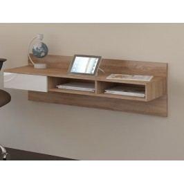 MORAVIA FLAT Designový psací stůl UNO, dub sonoma/bílý lesk