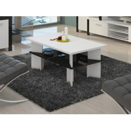 MORAVIA FLAT Konferenční stolek VECTRA 2, bílá/černý lesk