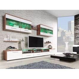 CAMA I, obývací stěna, švestka/bílý lesk