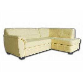 Kožená rohová sedačka NEVADA, krémová, pravá