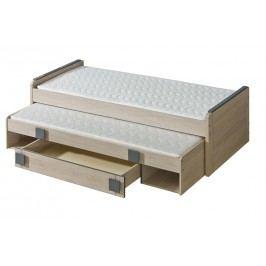 Dolmar GIMMI, postel s úlož. prostorem G16 bez matrací, dub santana + barva: