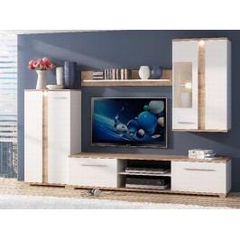 Extom KARDI, obývací stěna, san remo sand/alpská bílá