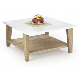 Konferenční stolek KIANA, bílá/dub sonoma