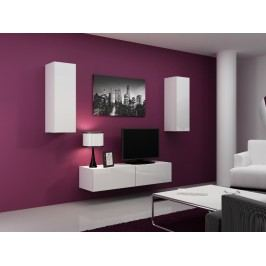 CAMA *Obývací stěna VIGO 7, bílá/bílý lesk