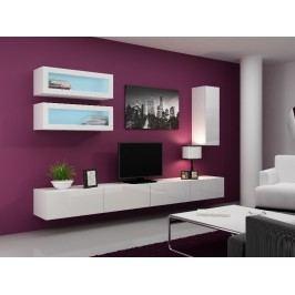 Obývací stěna VIGO 11, bílá/bílý lesk
