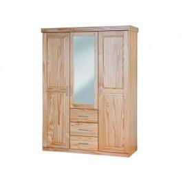 Šatní skříň CELSO, masiv borovice