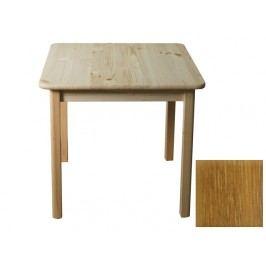 Stůl 60 x 60 cm nr.2, masiv borovice/moření dub