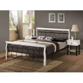 VENECJA, postel 160x200 cm, masiv - bílá/černá