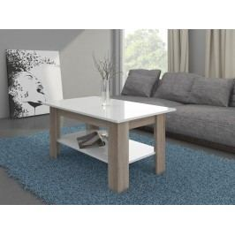 Konferenční stolek ELAIZA, dub sonoma/bílý lesk