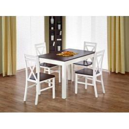 Jídelní stůl rozkládací MAURYCY, ořech tmavý/bílá