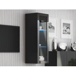 Halmar LIVO W-120 závěsná vitrína, černá