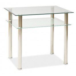Smartshop Jídelní stůl PIXEL 80x60 cm, kov/sklo