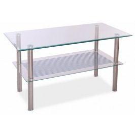 Konferenční stolek PIXEL B 90x45, kov/sklo