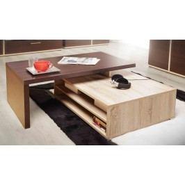 Forte KENDO, konferenční stolek, dub sonoma/dub čokol.