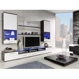 CAMA II, obývací stěna, wenge/bílý lesk