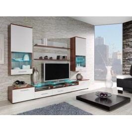 CAMA II, obývací stěna, švestka/bílý lesk
