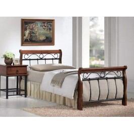 Smartshop VENECJA, postel  90x200, masiv/kov, třešeň antická/černá