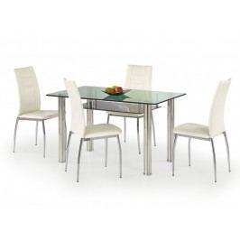 Jídelní stůl LENART, kov/sklo