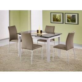 Jídelní stůl rozkládací ALSTON, béžová/bílá