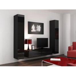CAMA *Obývací stěna VIGO 9, černá/černý lesk