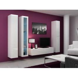 CAMA Obývací stěna VIGO 15, bílá/bílý lesk