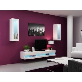 Obývací stěna VIGO NEW 11, bílá/bílý lesk