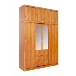 MORAVIA FLAT Šatní skříň BERTHA se zrcadly, barva: