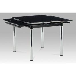 Jídelní stůl AT-1880 BK, černé sklo / chrom