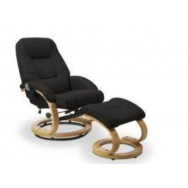 Relaxační křeslo MATADOR s podnožkou, černá