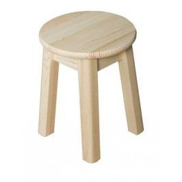 Stolička kulatá nr.4, masiv borovice, moření: ...