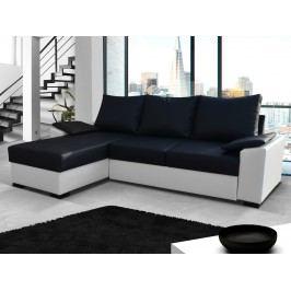 ELTAP Rohová sedačka LUSSO 11, černá ekokůže/bílá ekokůže
