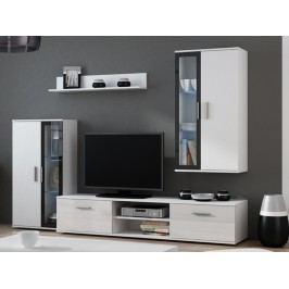 Obývací stěna DORA, bílá/černá