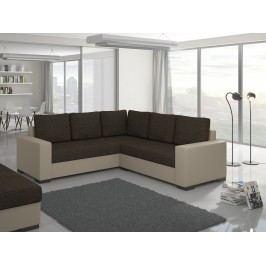 ELTAP Rohová sedačka CANIS 07, tmavě hnědá/béžová