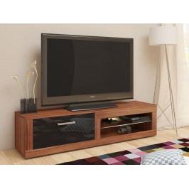 MORAVIA FLAT TV stolek VIKY NEW, švestka wallis/černý lesk