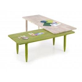 Smartshop Konferenční stolek BORA-BORA, white wash/zelená