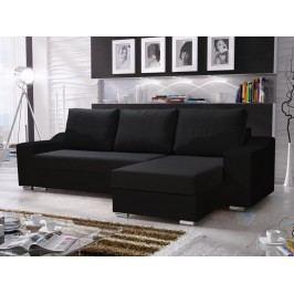 Rohová sedačka WILLIAM 270/3, černá látka/černá ekokůže
