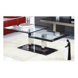 GABRIEL konferenční stolek, ocel/sklo