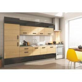 Smartshop Kuchyně SAVANNA 260S sonoma/černá