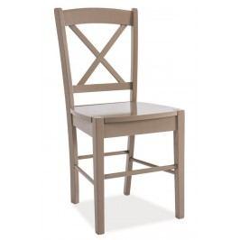 Jídelní dřevěná židle CD-56, hnědá