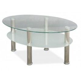 Smartshop Konferenční stolek LEO A, sklo/chrom