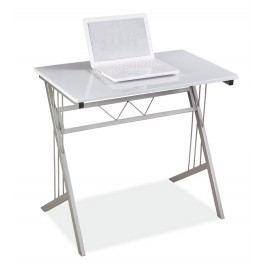 Smartshop Psací stůl B-120, sklo/kov