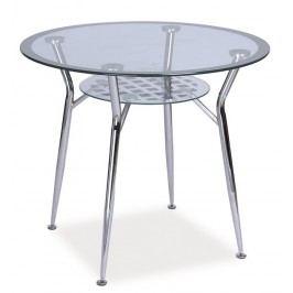 Jídelní stůl MOLAR, sklo/chrom