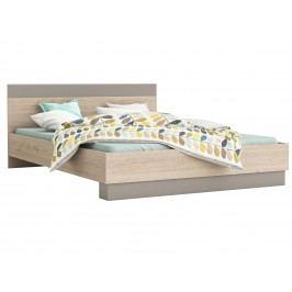 GRAFIC postel 140x190, dub arizona/jíl