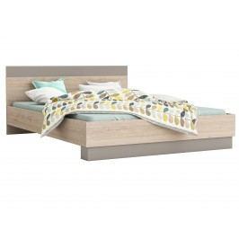 GRAFIC postel 160x200, dub arizona/jíl