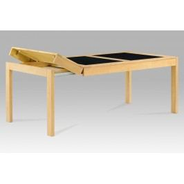 Smartshop Jídelní stůl rozkládací 160+40+40x90 cm, barva buk / černé sklo