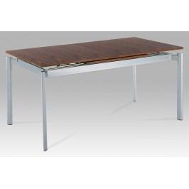 Autronic Jídelní stůl rozkl. WD-5864 AWAL, alu/dýha ořech