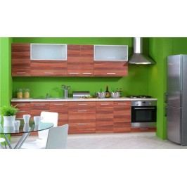 Kuchyně SILVER+ 260/320 cm, korpus jersey, havana
