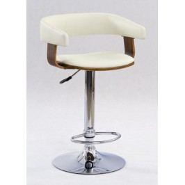 Barová židle H-12, ořech/béžová